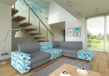 HERISSON stwarza wiele możliwości konstrukcyjnych, dzięki czemu każdy może dopasować go do pomieszczenia. Posiada funkcje spania i pojemnik na pościel.