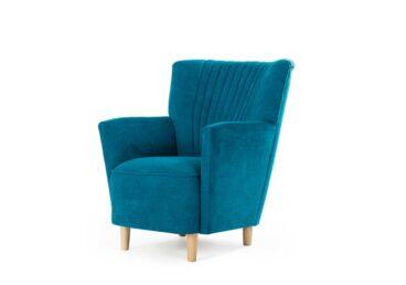 Niebieski fotel COFFEE