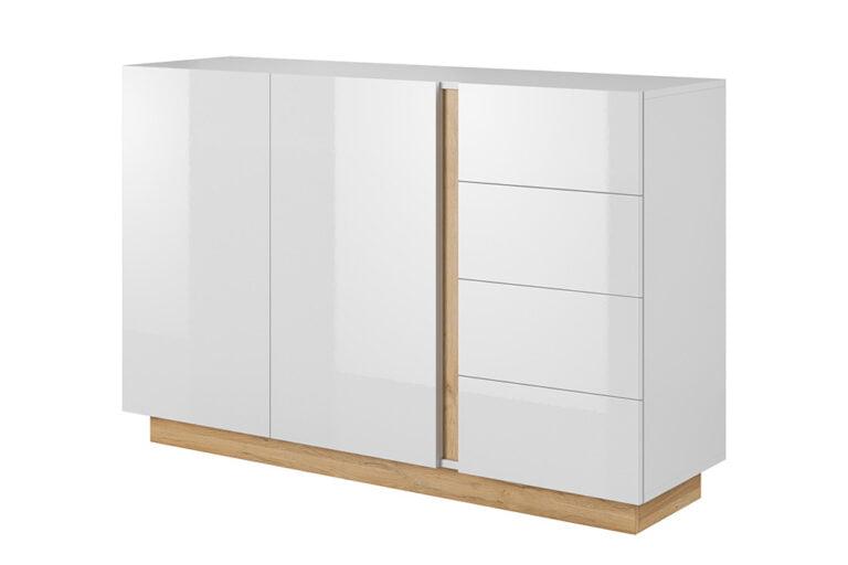Komoda z szufladami SARCHE w kolorze białym